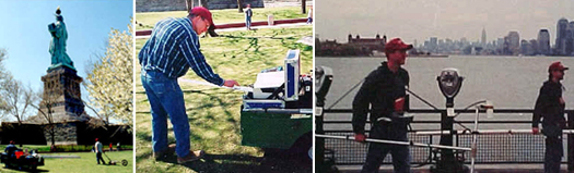 Hager-Richter conducts geophysical survey Liberty Island